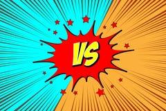 Versus. vs. Fight backgrounds. Comics style design. Vector illustration royalty free illustration
