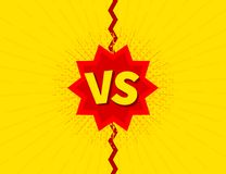 Versus VS letters fight backgrounds, in flat comics style design. Vector illustration. Stock Image