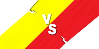 Versus VS letters fight backgrounds in flat comics style design. Vector illustration. Compared to VS sheet combat backgrounds in flat-comic design style. Vector vector illustration