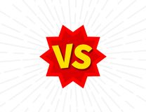 Versus VS letters fight backgrounds, in flat comics style design. Vector illustration. Stock Images