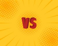 Versus VS letters fight backgrounds in flat comics style design. Vector illustration.  Stock Photo