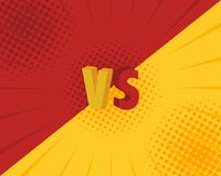 Versus VS letters fight backgrounds in flat comics style design. Vector illustration.  Royalty Free Stock Photo