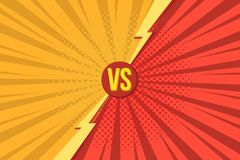 Versus VS letters fight backgrounds in pop art retro comics style with halftone. Vector illustration vector illustration