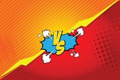 versus VS Walk tło komiczek stylu projekt również zwrócić corel ilustracji wektora Fotografia Royalty Free