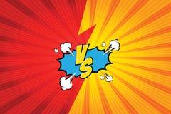 versus VS Walk tło komiczek stylu projekt również zwrócić corel ilustracji wektora Zdjęcia Royalty Free