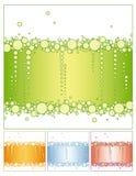 vert пузыря предпосылки Стоковые Изображения