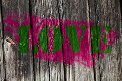 Vert 3 d'amour Image libre de droits