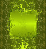 vert abstrait de drapeau Illustration Stock