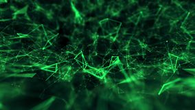 Vert abstrait de fond de la science de technologie de structure de connexions illustration de vecteur