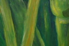 Vert abstrait de peinture Photo libre de droits