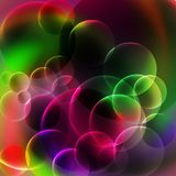 Vert abstrait et Violet Bubbles Background Photo libre de droits
