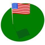 Vert américain Images libres de droits