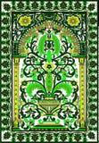 Vert arabe de fleur de fresca de tuile Images stock