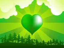 Vert au coeur illustration libre de droits