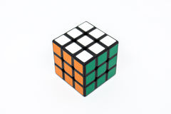 Vert blanc orange de succès de cube en Rubik Photos libres de droits