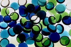 Vert bleu abstrait II Photo libre de droits