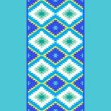 Vert bleu jaune de tapis turc sans couture de modèle Couverture de kilim d'oriental de mosaïque de patchwork avec l'ornement géom illustration stock