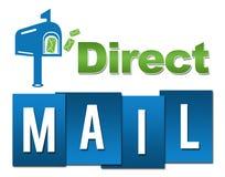 Vert-bleu professionnel de courrier direct avec le symbole Photo stock