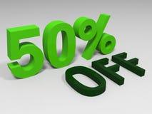 Vert cinquante pour cent Images libres de droits