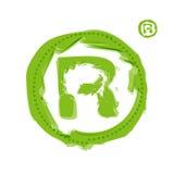 Vert clair initial Photo libre de droits
