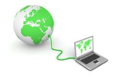 vert connecté au monde Image libre de droits