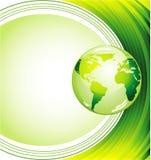 vert d'écologie de fond Images libres de droits