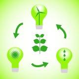 vert d'énergie Images stock