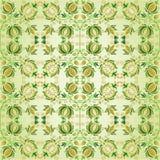 vert d'or de fleur de conception fleuri Images stock