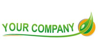 Vert d'eco de logo Images stock
