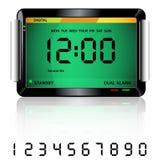 Vert d'horloge d'alarme de Digitals Images stock