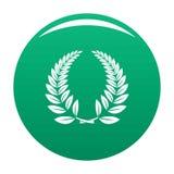Vert d'icône de guirlande de laurier illustration libre de droits