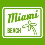 Vert d'icône de Miami Beach Image libre de droits