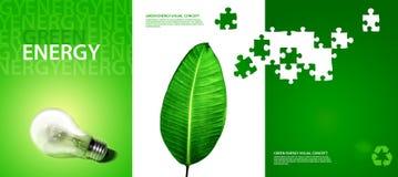 vert d'énergie de concept Images libres de droits