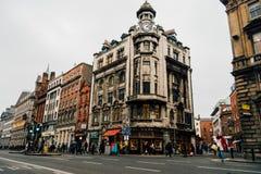Vert d'université au centre de la ville de Dublin, Irlande Image libre de droits