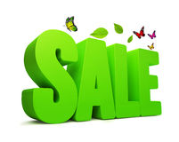 Vert 3D Word de ressort de vente Photos libres de droits