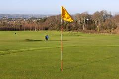 Vert dans le terrain de golf Images stock