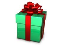 Vert de boîte-cadeau Photographie stock libre de droits