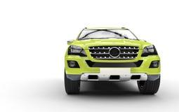 Vert de chaux SUV Photo libre de droits
