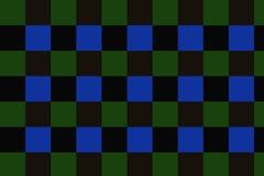 Vert de checkersof de fond, obscurité, couleurs bleu-foncé ! photographie stock