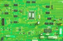 vert de circuit de panneau estampé Photos libres de droits