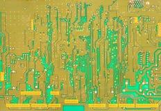 vert de circuit de panneau estampé Image stock