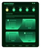 Vert de conception de descripteur de site Web Photographie stock libre de droits