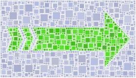 vert de flèche Images libres de droits