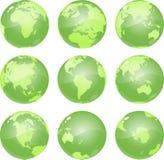 vert de globes Illustration de Vecteur