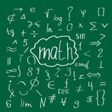 Vert de griffonnage de maths illustration stock