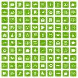 100 vert de grunge réglé de service postal par icônes illustration de vecteur