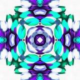 Vert de kaléidoscope de batik à Image libre de droits