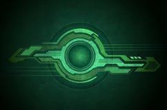 Vert de la géométrie de technologie Photo libre de droits