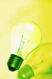 Vert de lampe Photo libre de droits
