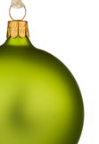 vert de Noël de babiole vibrant images libres de droits